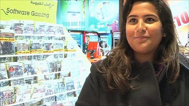 Woman shopping in Kuwait