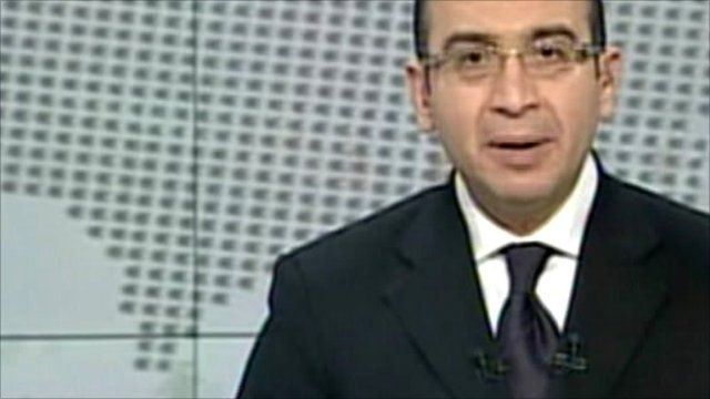 Egypt state TV announcement of dissolution of parliament