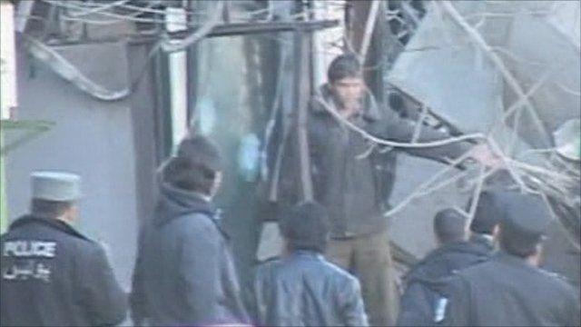 Scene of suicide bombing in Kabul