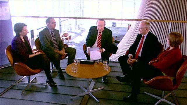 Daily Politics panel in Cardiff