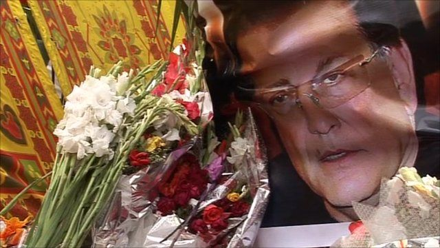 Floral tributes for Salman Taseer