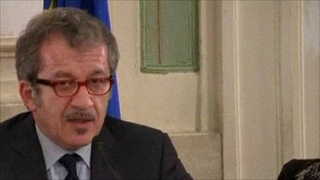 Italian Interior Minister, Roberto Maroni
