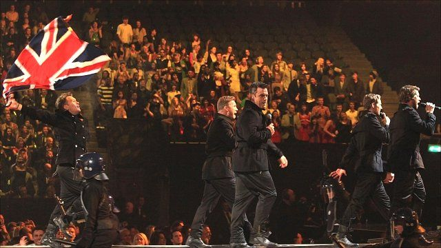 Take That on stage