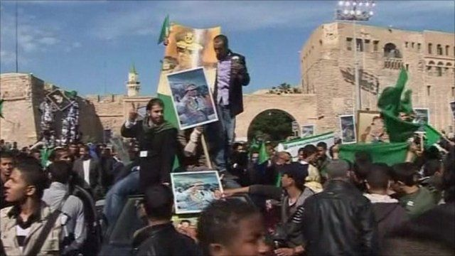 Pro government protests in Libya