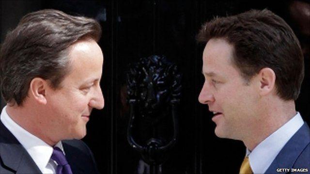David Cameron and Nick Clegg - file photo