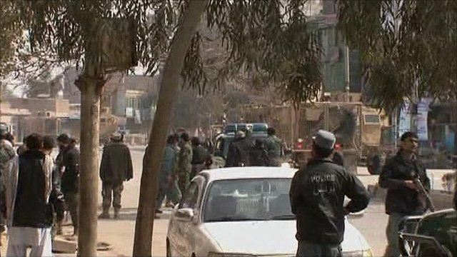 Bank attack in Jalalabad, Afghanistan