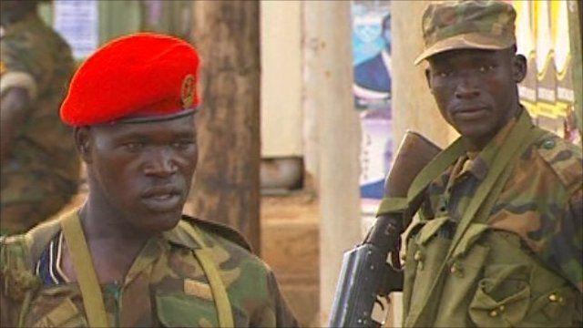 Military on streets of Uganda