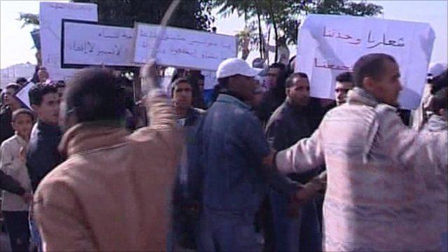 Moroccan protesters