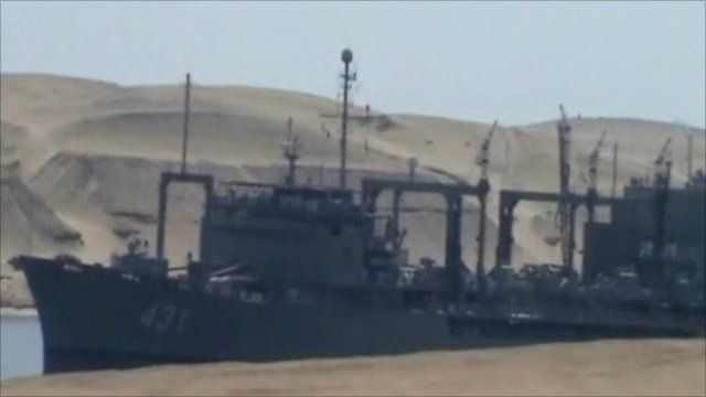 Iranian ship enters Suez Canal