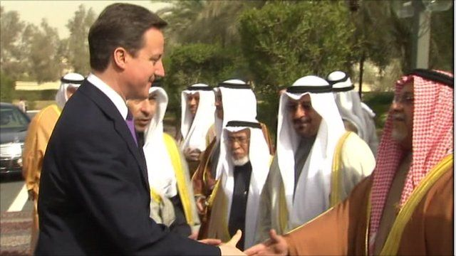 David Cameron meeting members of the Kuwaiti government