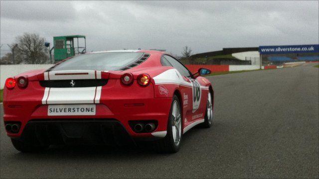 A Ferrari at Silverstone