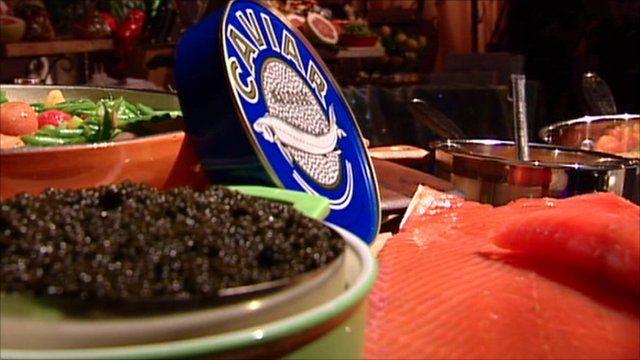 Caviar and smoked salmon