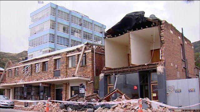 A destroyed building in Lyttelton