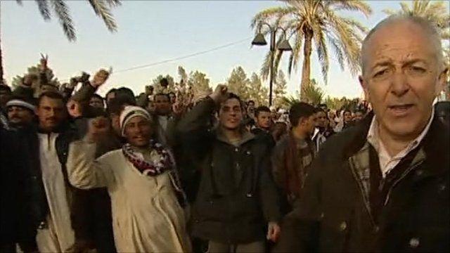 The BBC's Jeremy Bowen in Tripoli