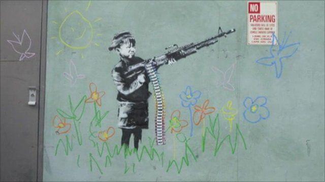 Banksy street drawing