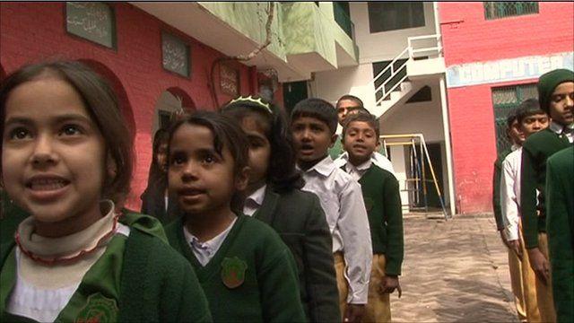 Children at school in Lahore, Pakistan