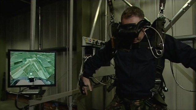 Virtual skydive training machine