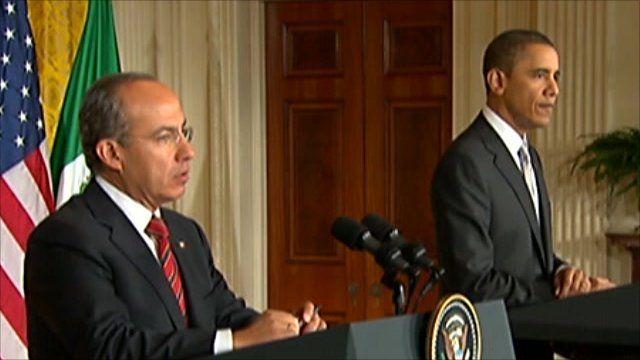 Felipe Calderon and Barack Obama