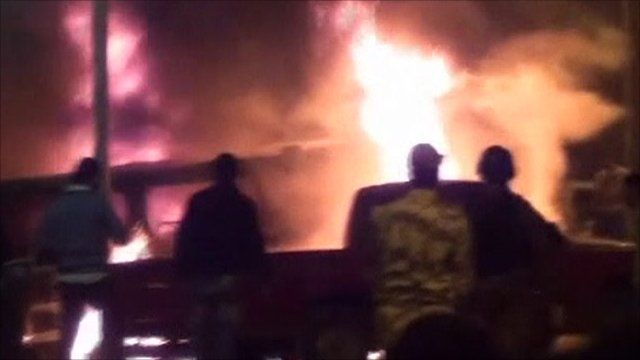 Vehicles on fire in Alexandria on Friday night