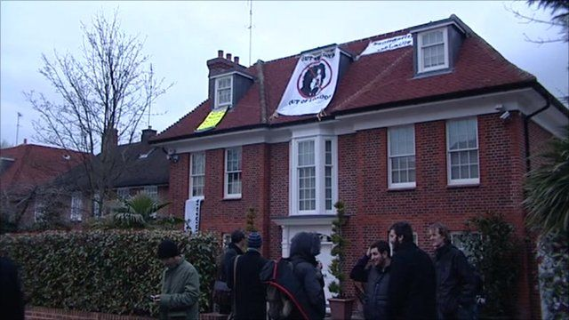 The north London home thought to be owned by Colonel Gaddafi's son