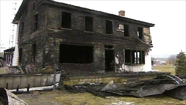 Burnt-out house where seven children died in Pennsylvania