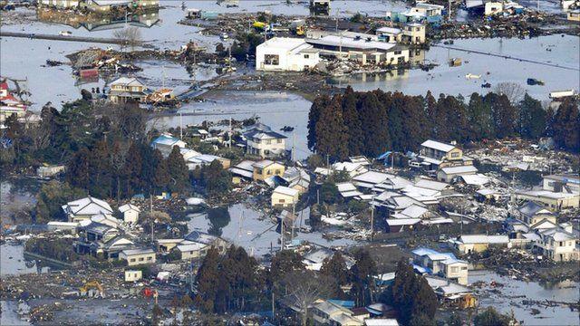 Sendai morning after quake