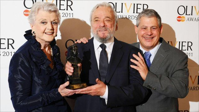 Angela Lansbury, Stephen Sondheim and Sir Cameron Mackintosh