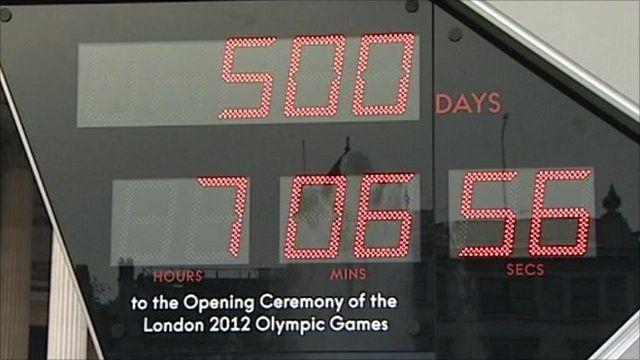 Olympic countdown clock