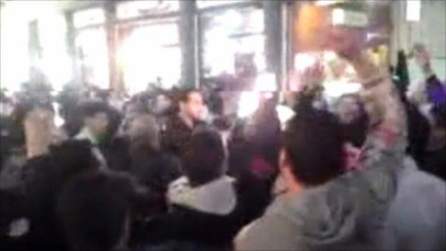 Screenshot from amateur video