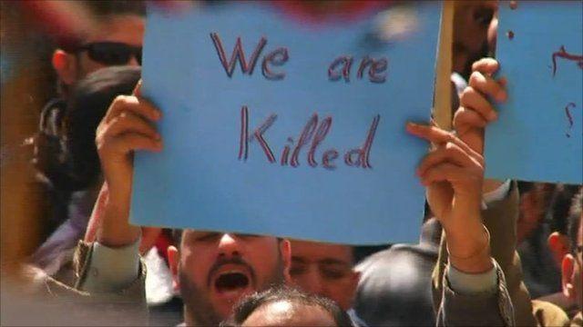 Egypt's Coptic minority protesting