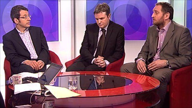 George Monbiot, Jamie Reed and Darren Johnson