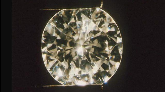 Polished cut diamond