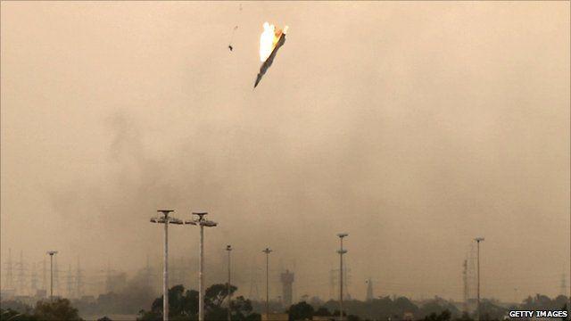 Jet shot down over Benghazi