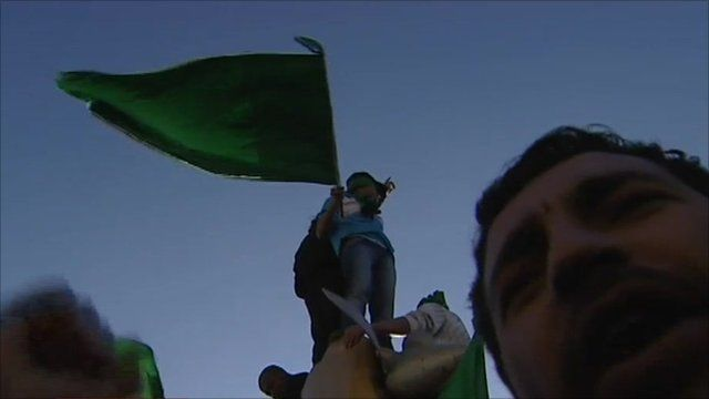 Pro-Gaddafi supporters
