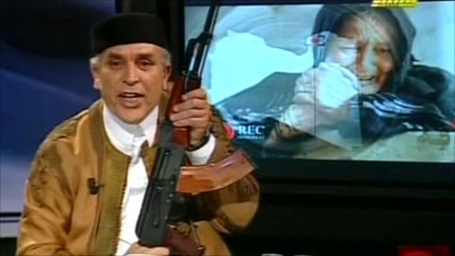 Libyan State TV presenter