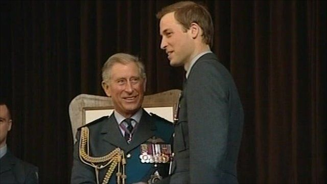 Prince Charles with Prince William