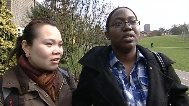 Students outside the University of Surrey