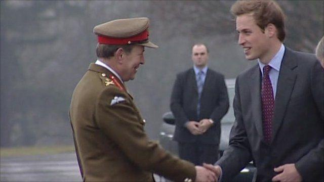 Prince William arrives at Sandhurst