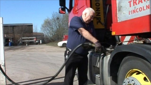 Filling up a lorry