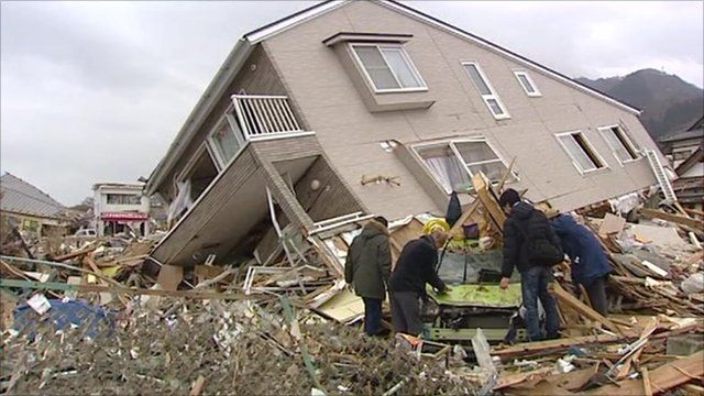 Destroyed home in Japan