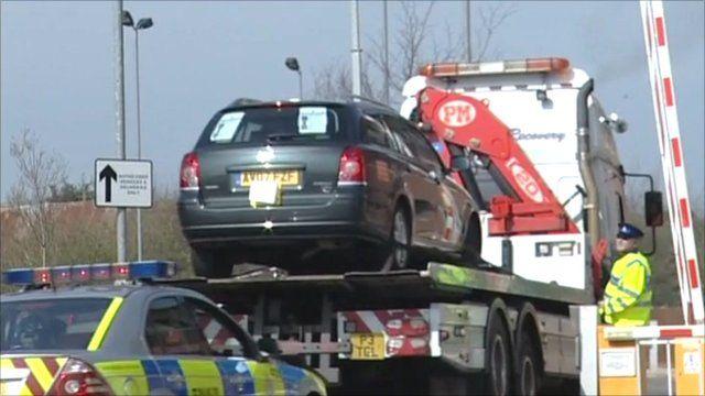 Car taken away by police