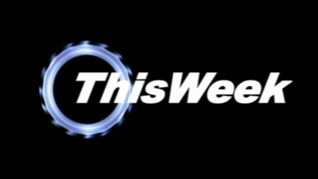 This Week logo in a Top Gear style