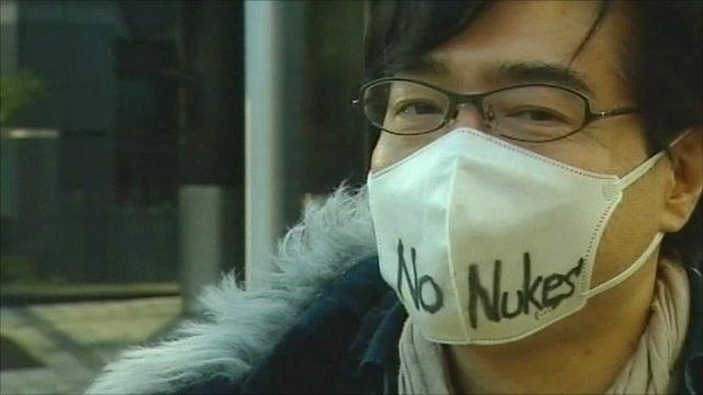 Anti-nuclear protester
