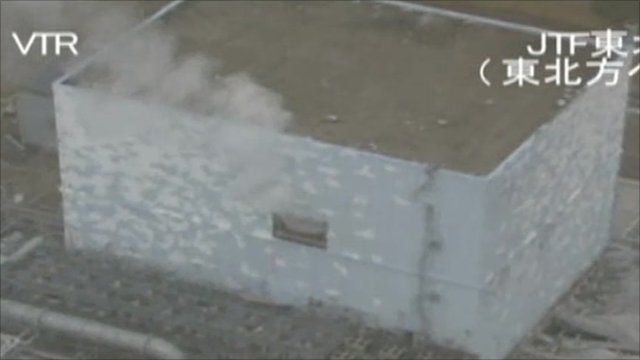 Japanese military video: Image of Japan's quake-hit Fukushima nuclear plant taken on 27 March 2011