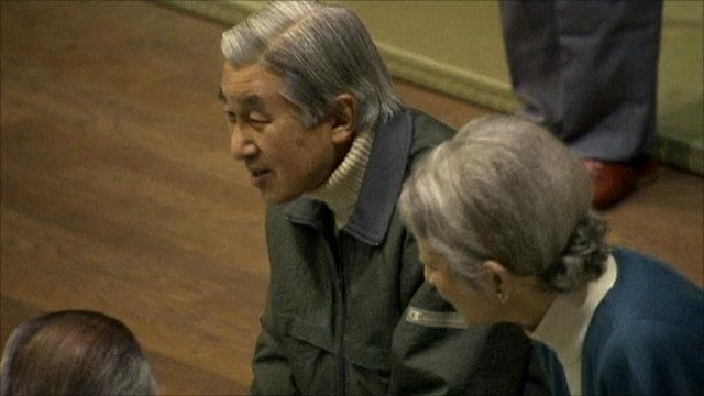 Japanese Emperor Akihito and Empress Michiko
