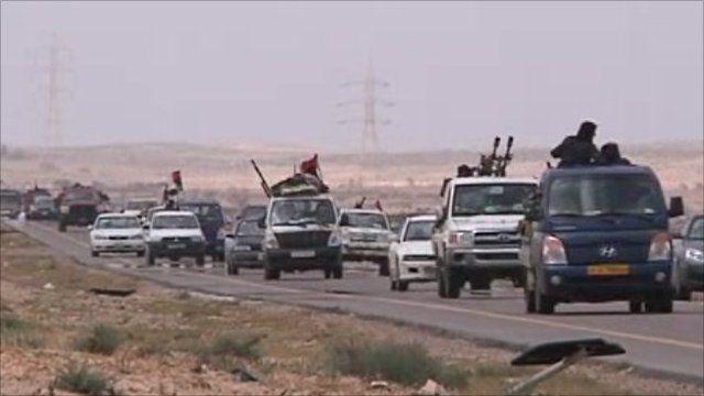 Rebels travelling to Brega