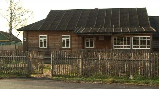 A replica of the Gagarin family home
