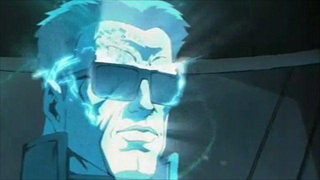 Arnold Schwarzenegger as a cartoon