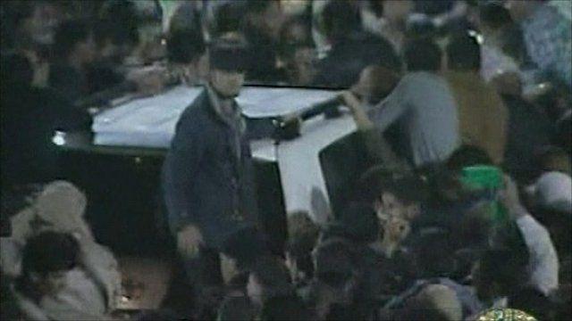 Libyan state TV broadcast