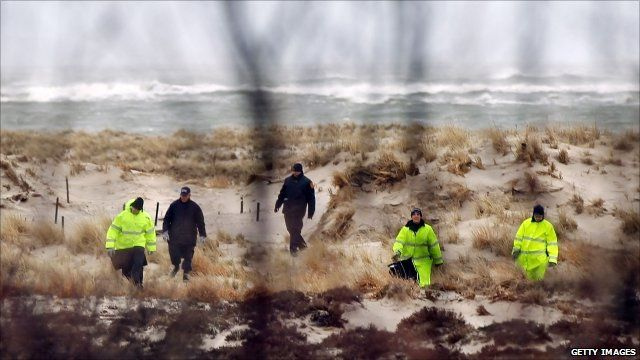 Police search Long Island beach